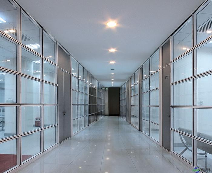 延安铝合金玻璃隔断无框安装施工