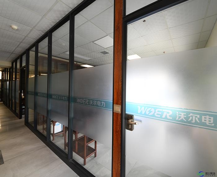 磨砂玻璃办公室隔断的好处